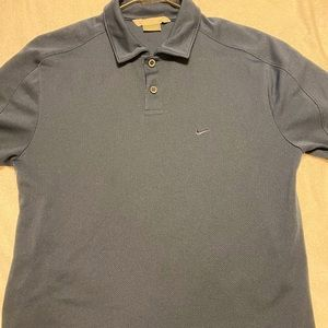 Navy Blue Nike Polo Dri-FIT T-Shirt